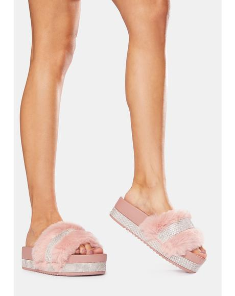 Blush Put On Pause Platform Slides