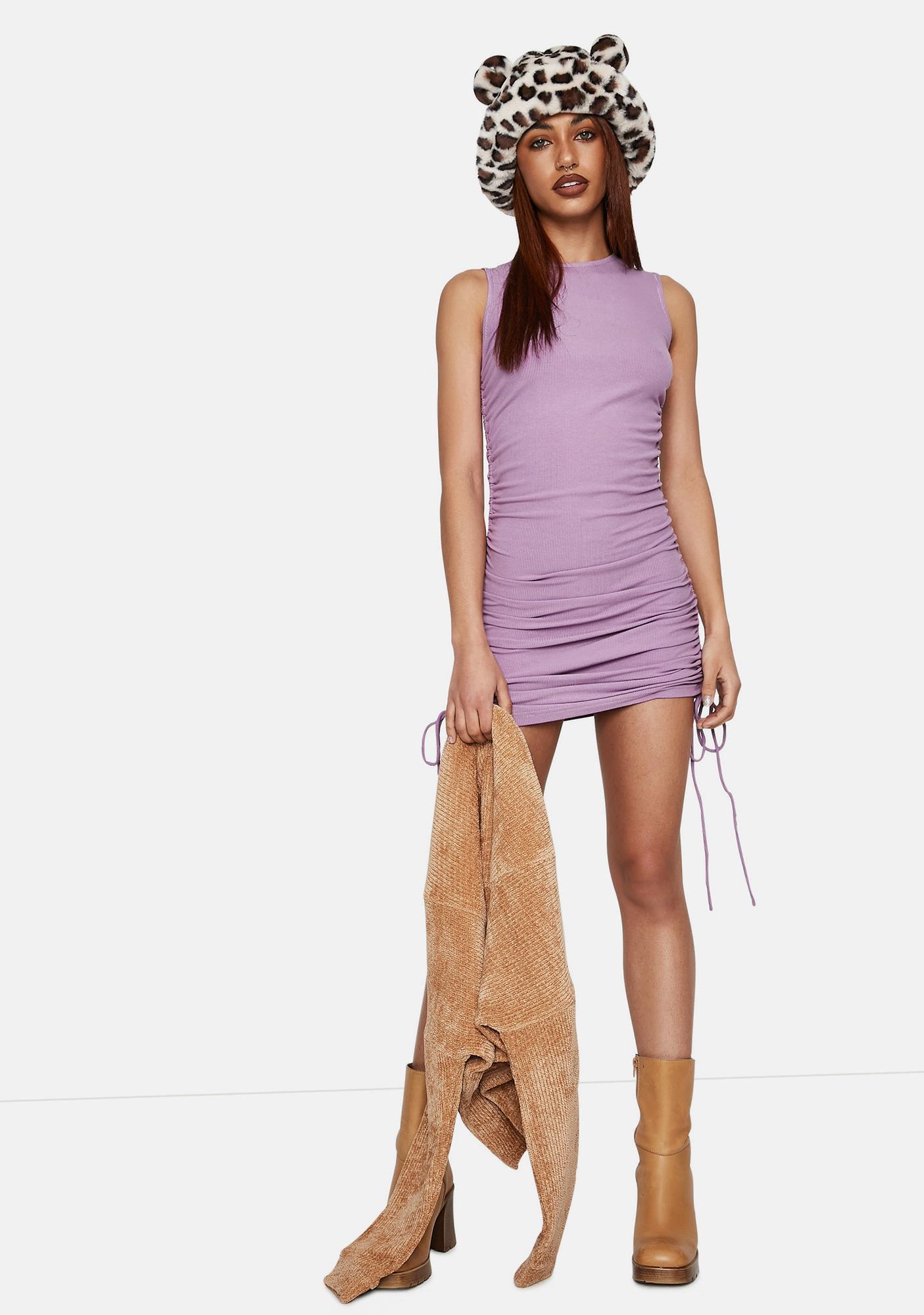 Bailey Rose Lilac Sage Side Tie Mini Dress
