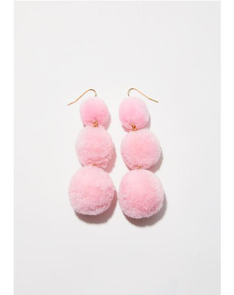 Lil' Fluff Ball Earrings