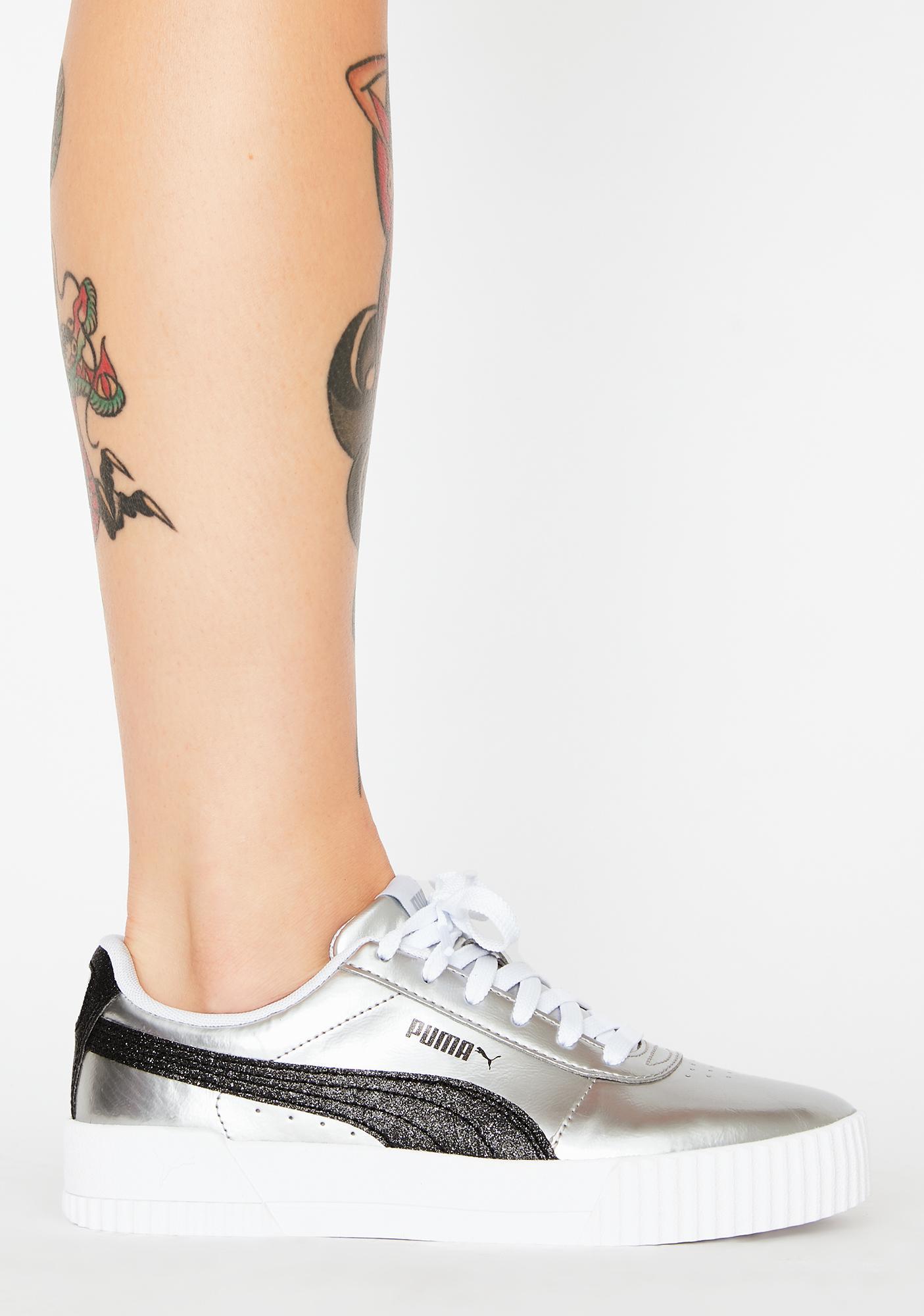 PUMA Silver Carina Classic Sneakers