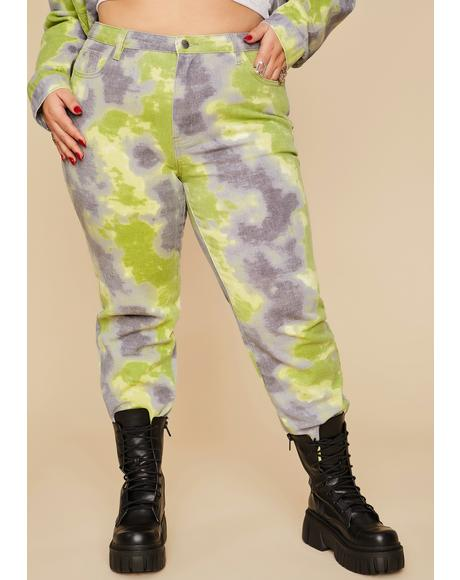 Wild Eyes Of Envy Tie Dye Jeans