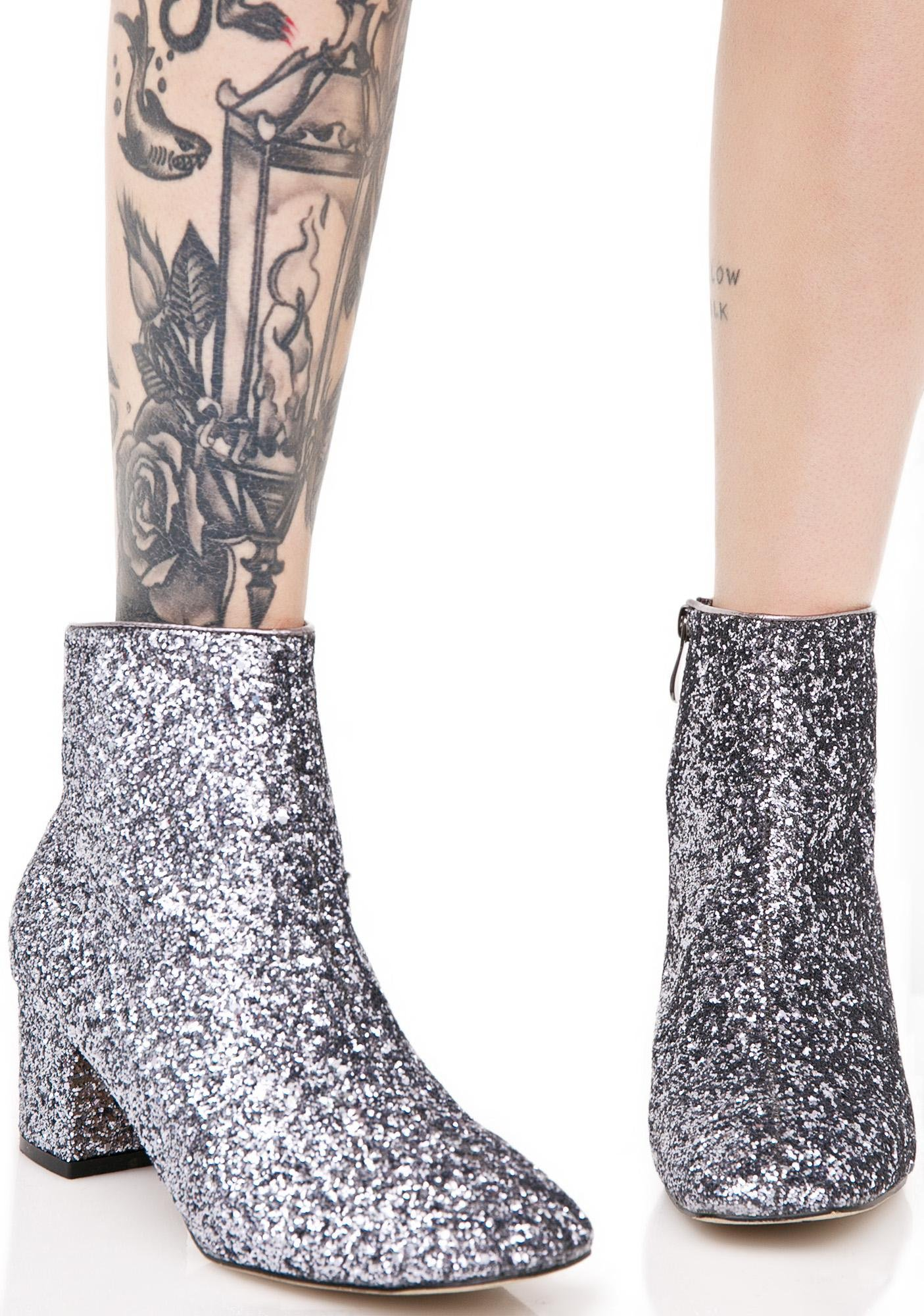 Space Oddity Glitter Boots