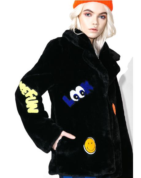Blackout Put 'Em Up Faux Fur Coat