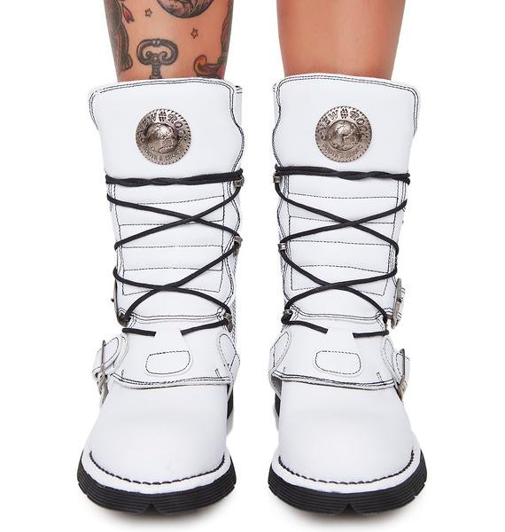 New Rock Ripperz Buckle Boots