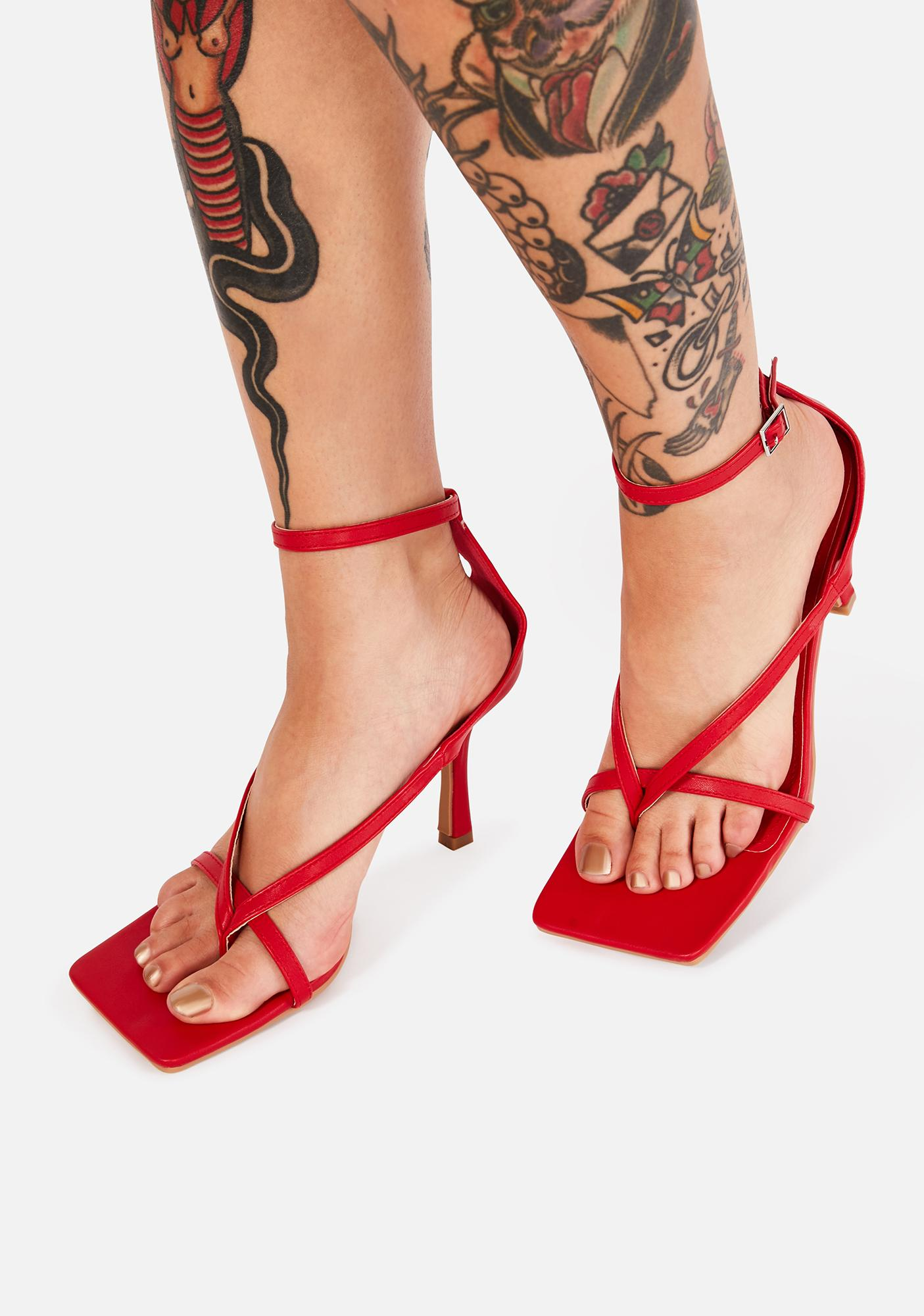 Fire High Maintenance Grl Strappy Heels