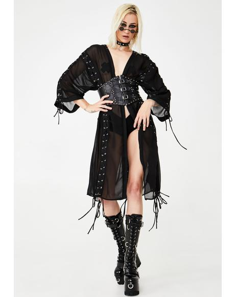 Sheer Terror Lace-Up Robe