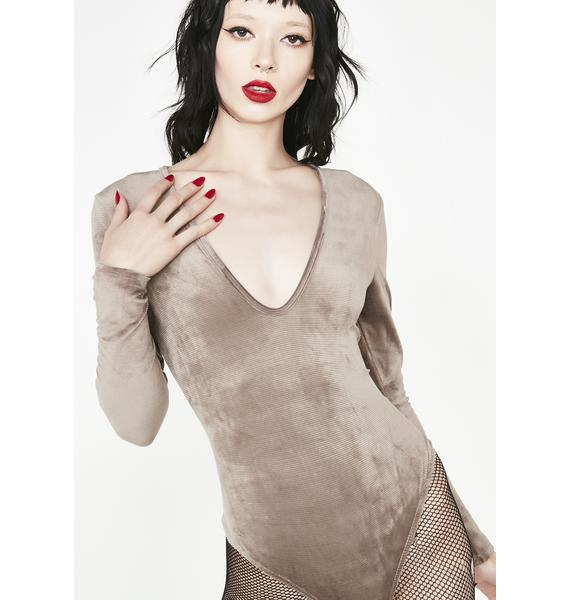 Touch My Body Velvet Bodysuit