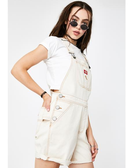 Natural Roll Hem Shortalls
