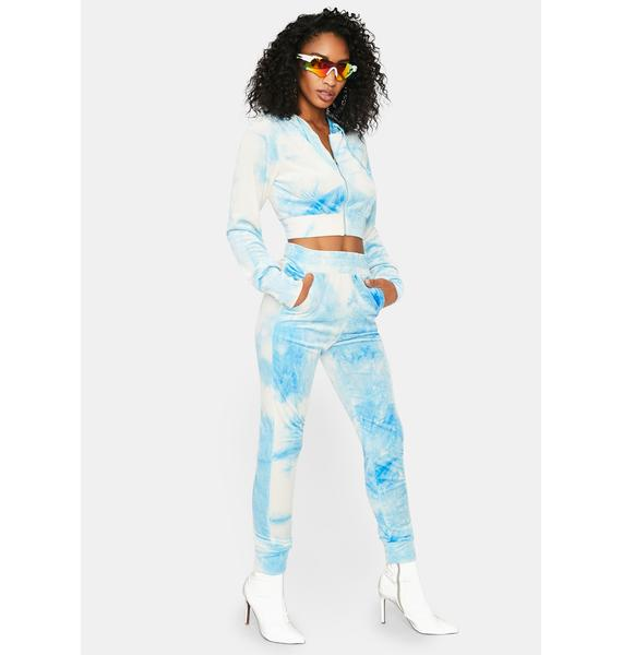 Bae Keep Up Tie Dye Jogger Set
