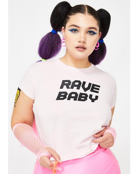 Total Rave Baby Crop Tee