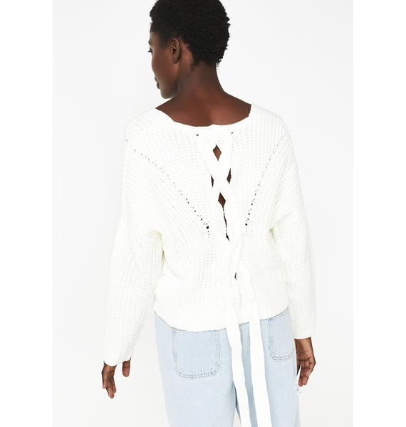 Too Wavy Knit Sweater