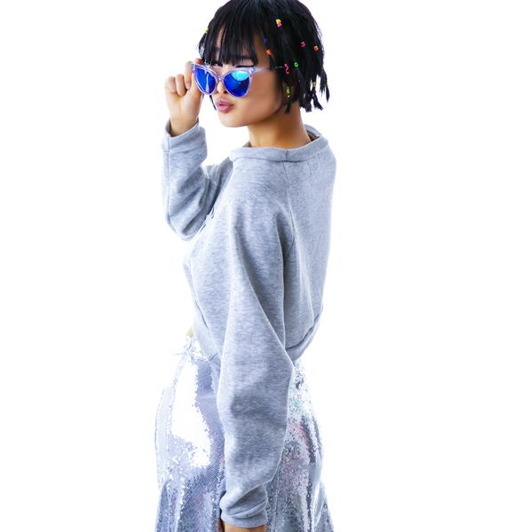 United Couture Chill Out Homeboy Cropped Sweatshirt