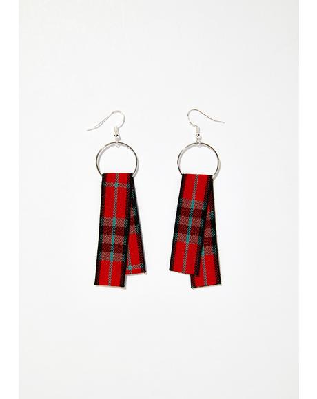 Fresh Meat Plaid Earrings