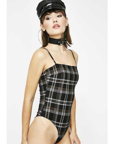 Timely Manner Plaid Bodysuit