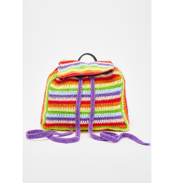 dELiA*s by Dolls Kill Hipster Mania Crochet Backpack