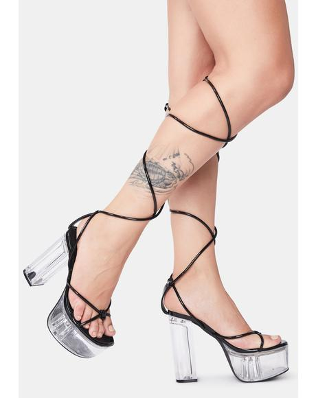 Cut Throat Competition Wrap Heels