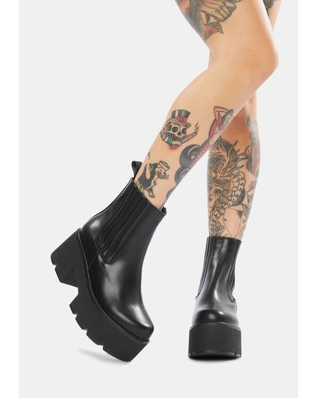 Party Ur A Part Of Platform Ankle Boots