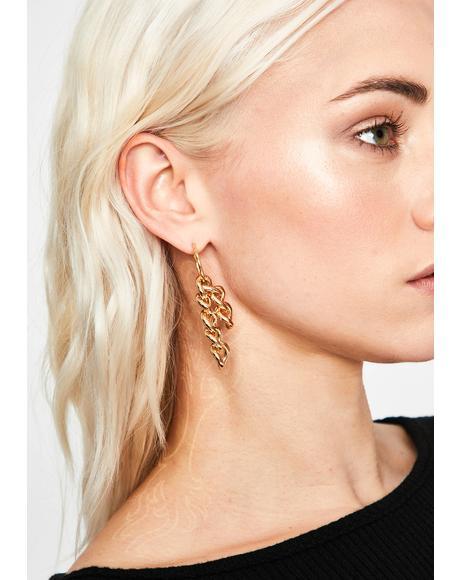 No Trespassing Chain Earrings