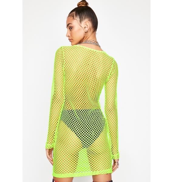 Toxic Trance Fishnet Dress