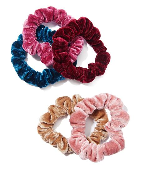 Sweetest Thing Velvet Scrunchie Set
