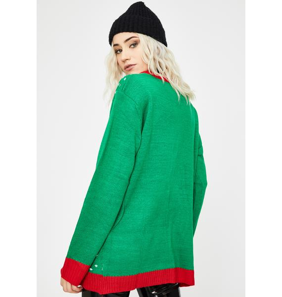 You've Been Naughty Stocking Sweater