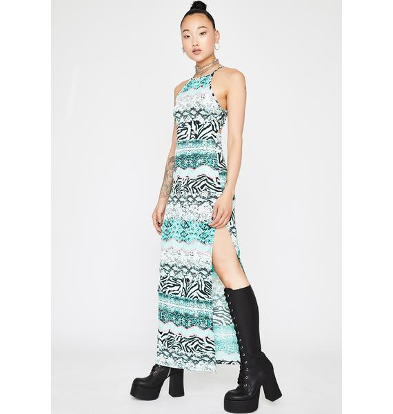 Jade Animal Kingdom Maxi Dress