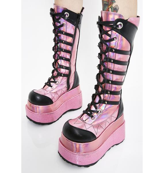 Demonia Pixie Step Right In Platform Boots