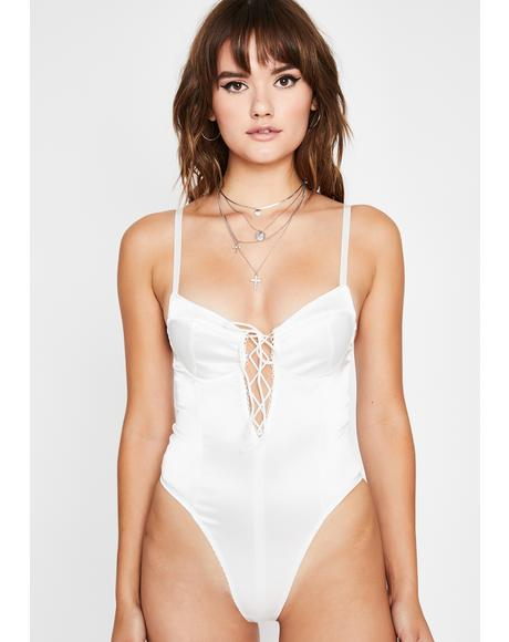 In Ur Dreams Satin Bodysuit