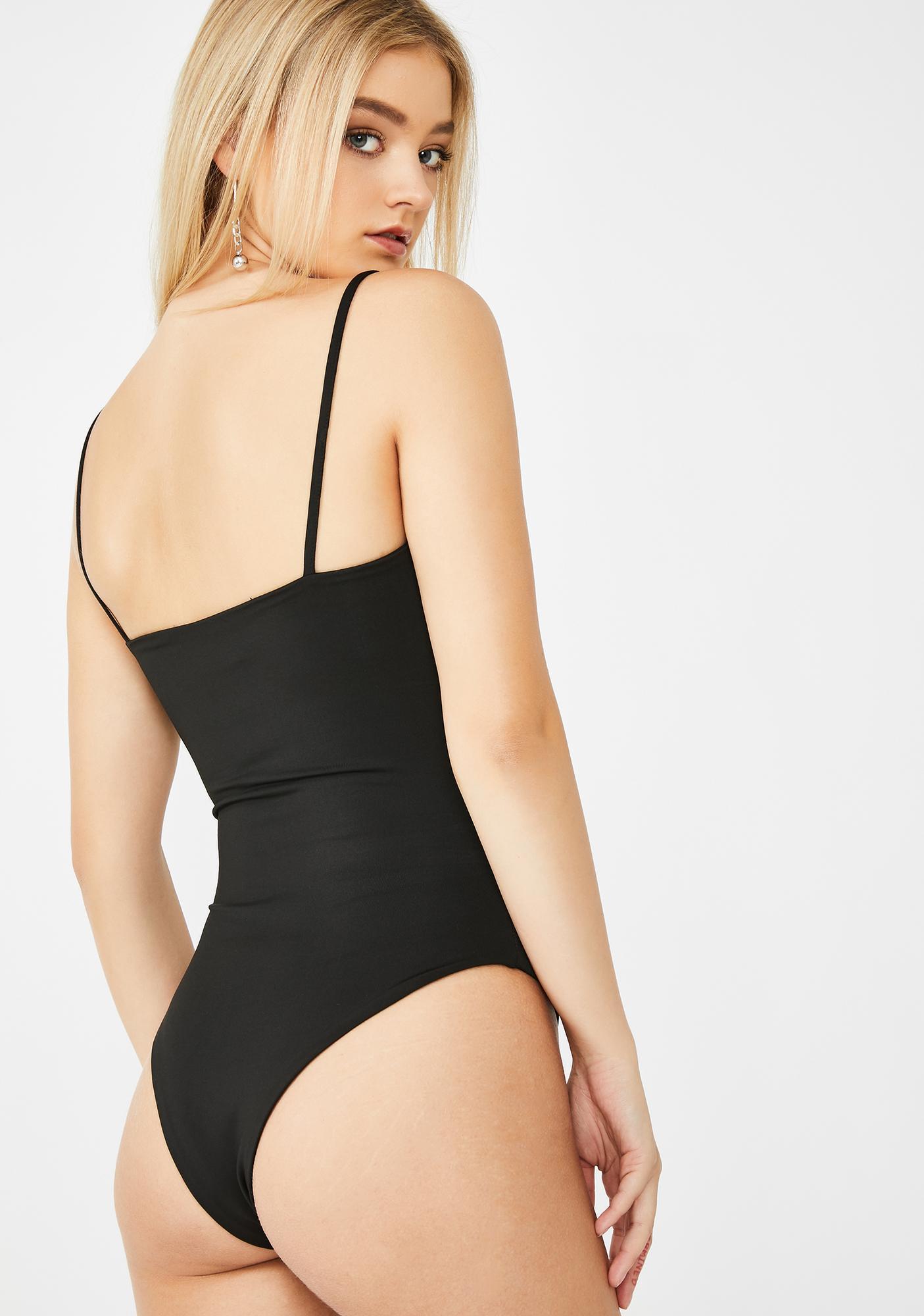 SNDYS. THE LABEL Black Penelope Bodysuit
