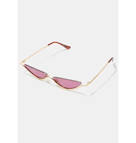 I-SEA Dixie Gold Burgundy Sunglasses