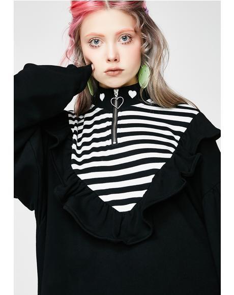Stripe Insert Sweatshirt