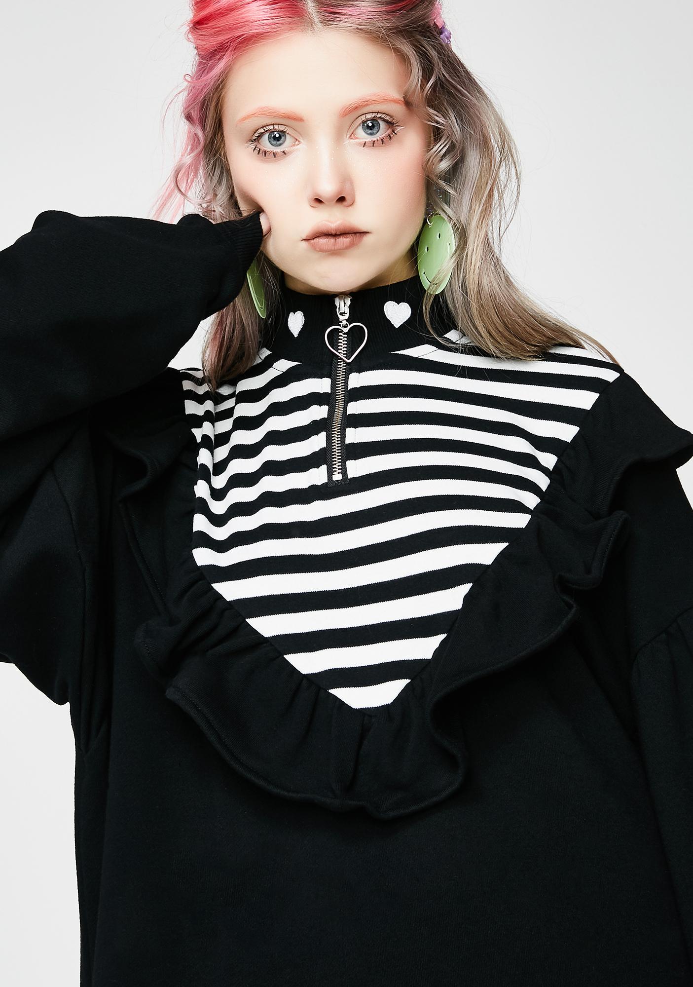 Lazy Oaf Stripe Insert Sweatshirt