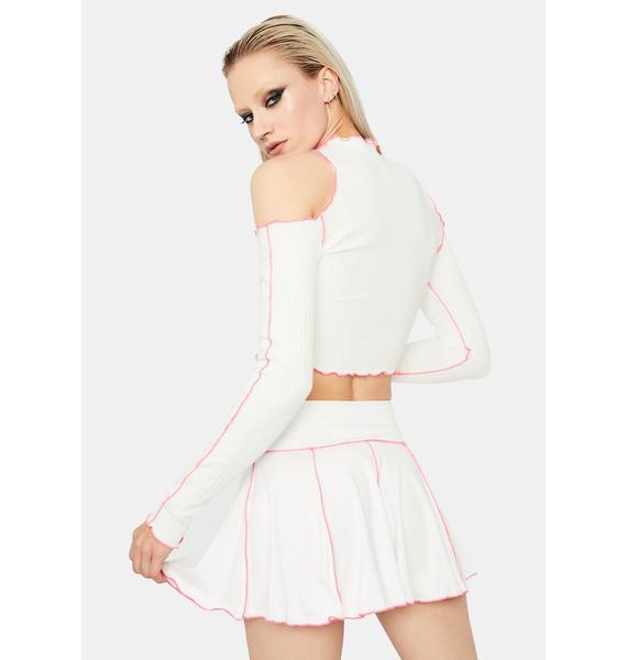 Stuck With U Pleated Mini Skirt
