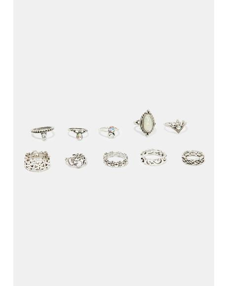 Vivid Jewel Ring Set
