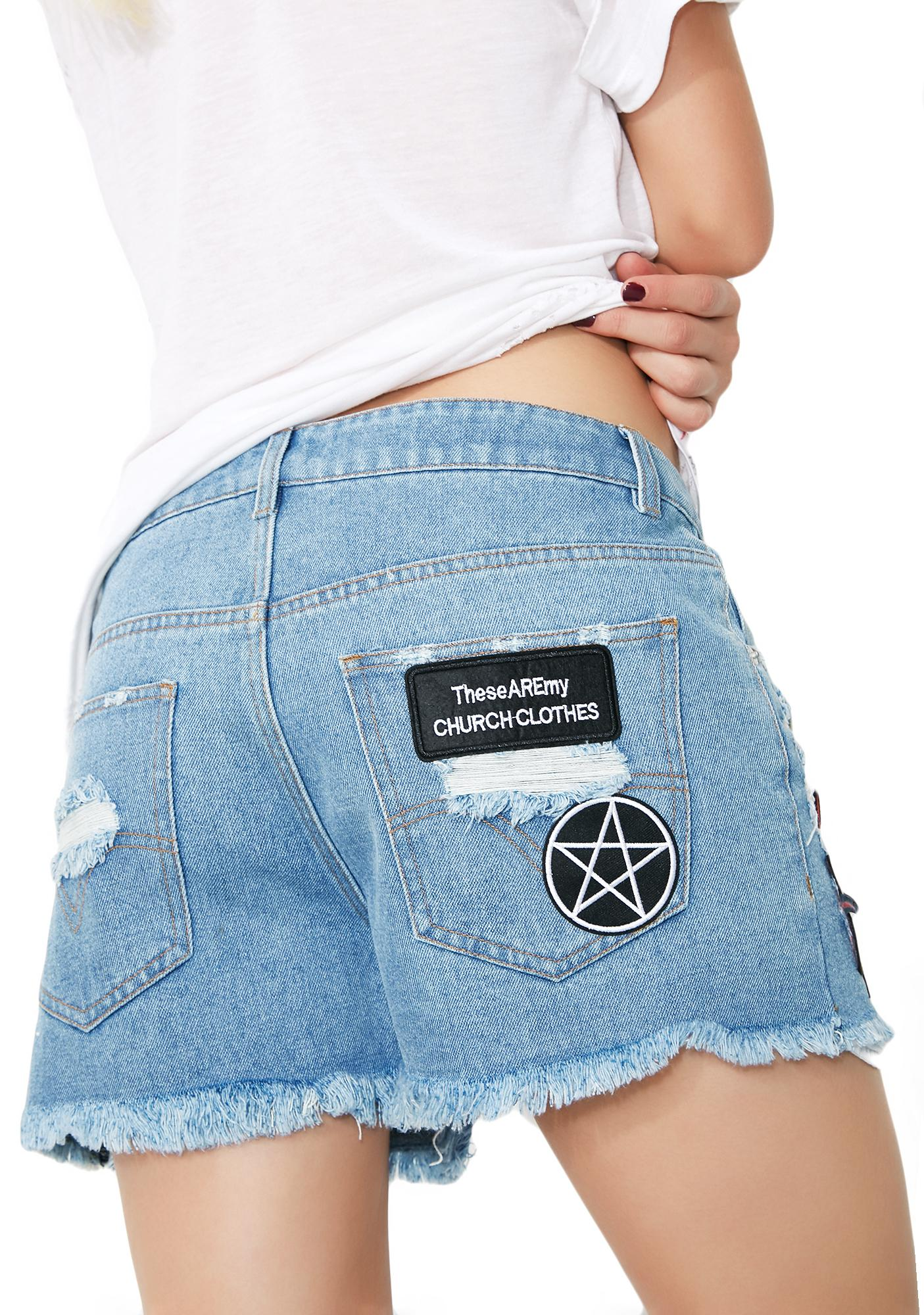 Current Mood Hell Bent Denim Shorts