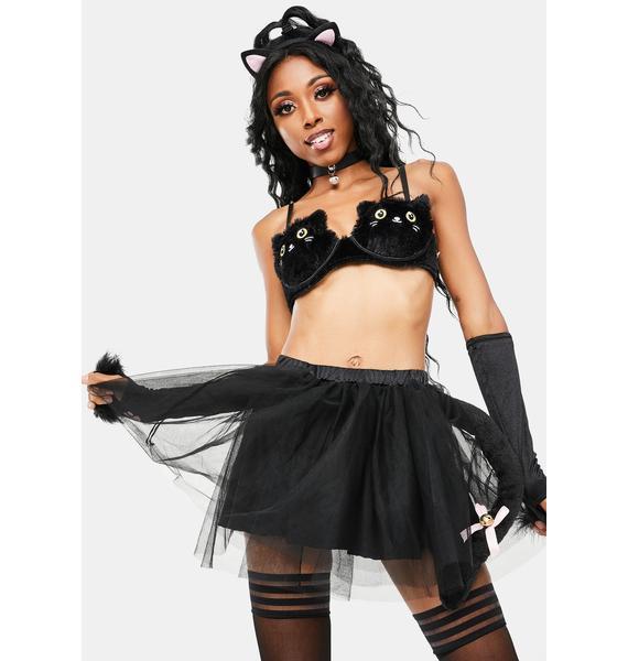 Dolls Kill Kitten Of Darkness Costume Set