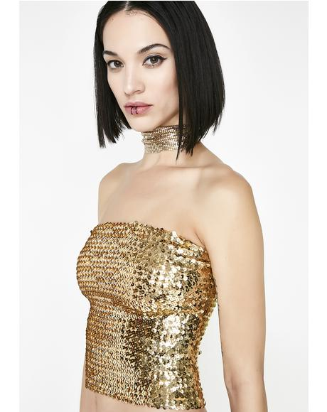 Disco Bunny Sequin Tube Top