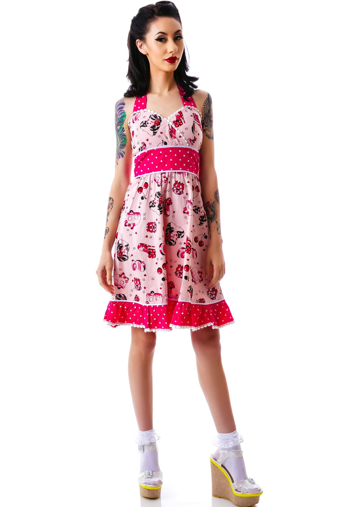 Sourpuss Clothing Ada All Dolled Up Dress