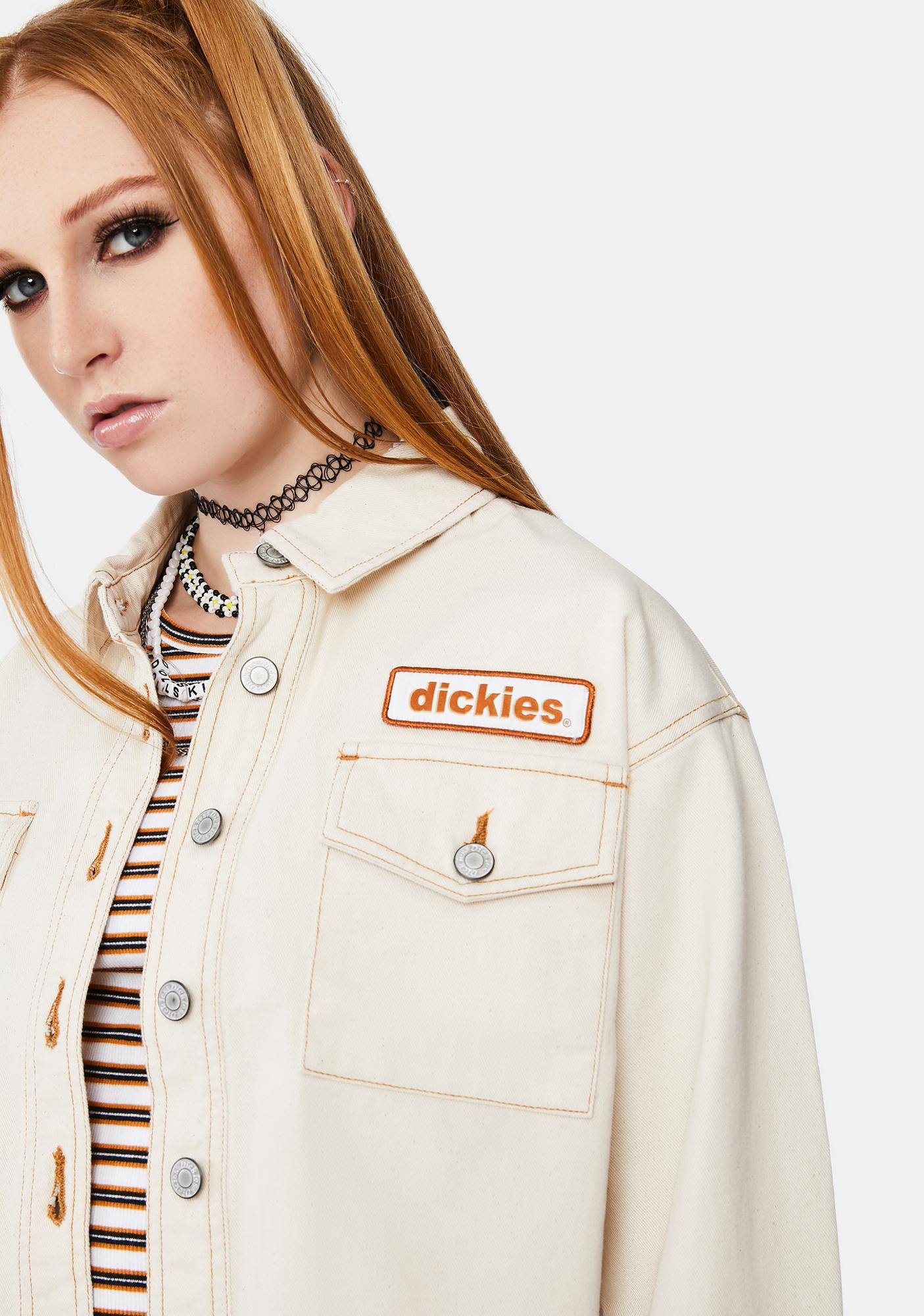Dickies Girl Logo Patch Crop Trucker Jacket