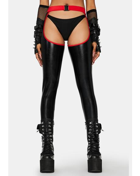 Devil Get Rowdy Vegan Leather Chaps