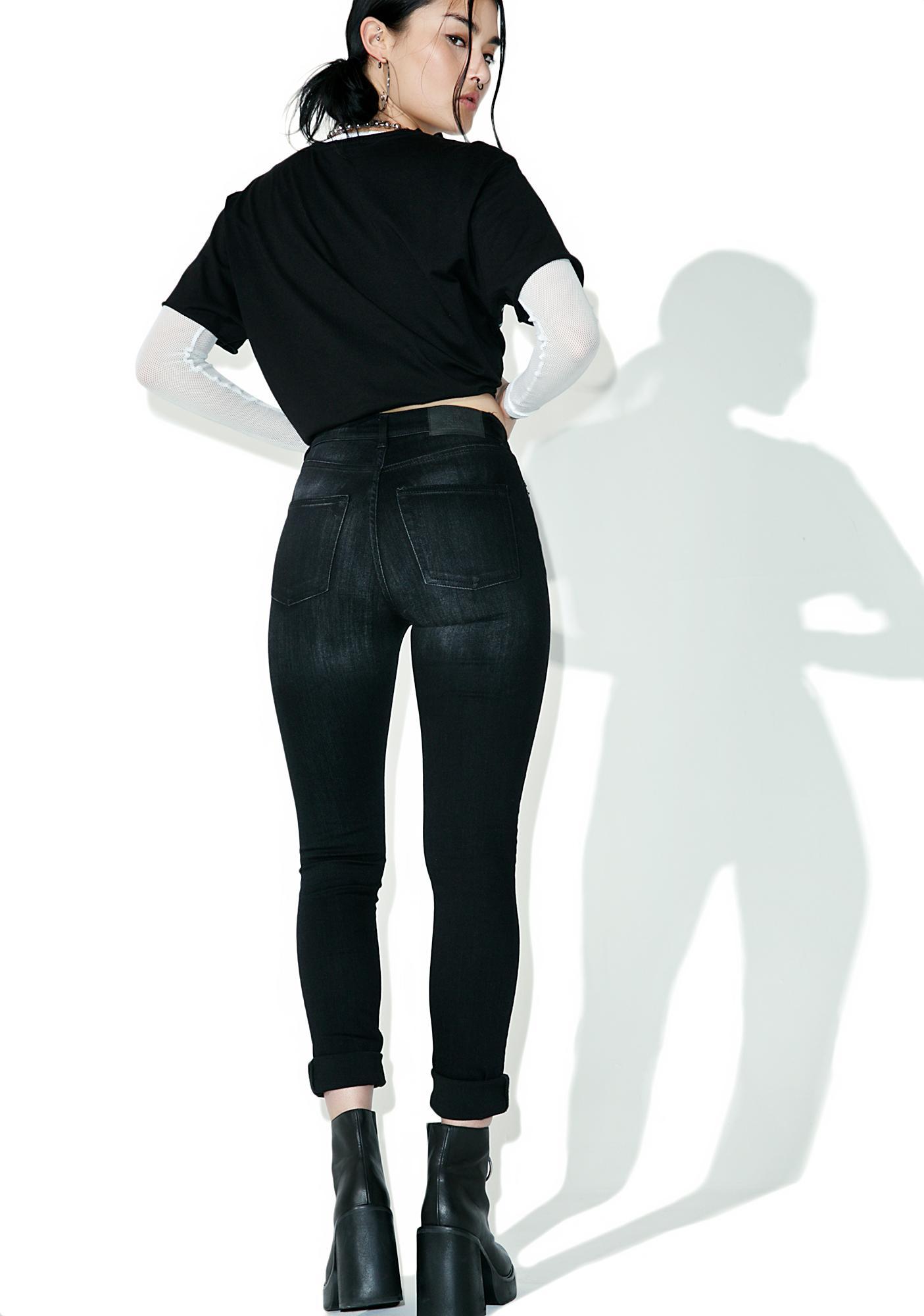 Cheap Monday Turnout Black Jeans