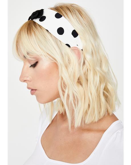 Bow Peep Polka Dot Headband