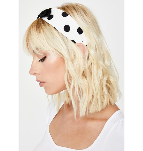 Bow Peep Polka Dot Headband