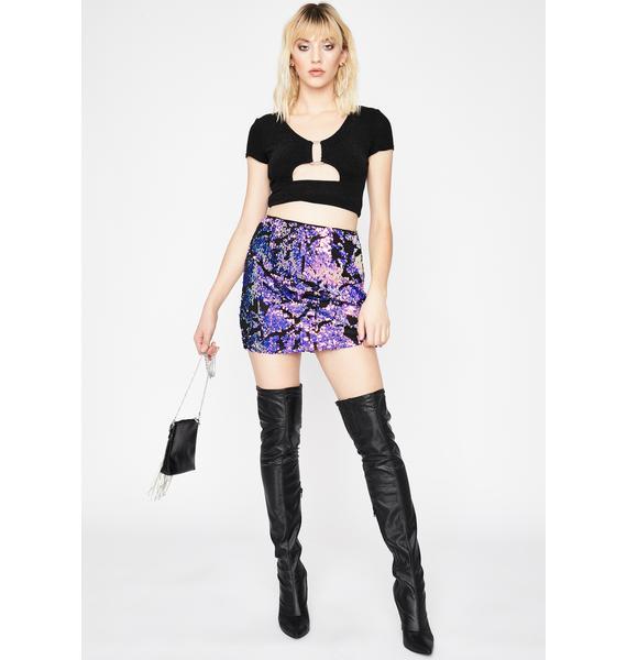 Hashtag Habits Sequin Skirt