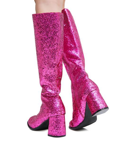 Go-Go Baby Glitter Boots