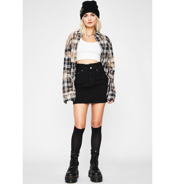 Lost Hope Denim Mini Skirt