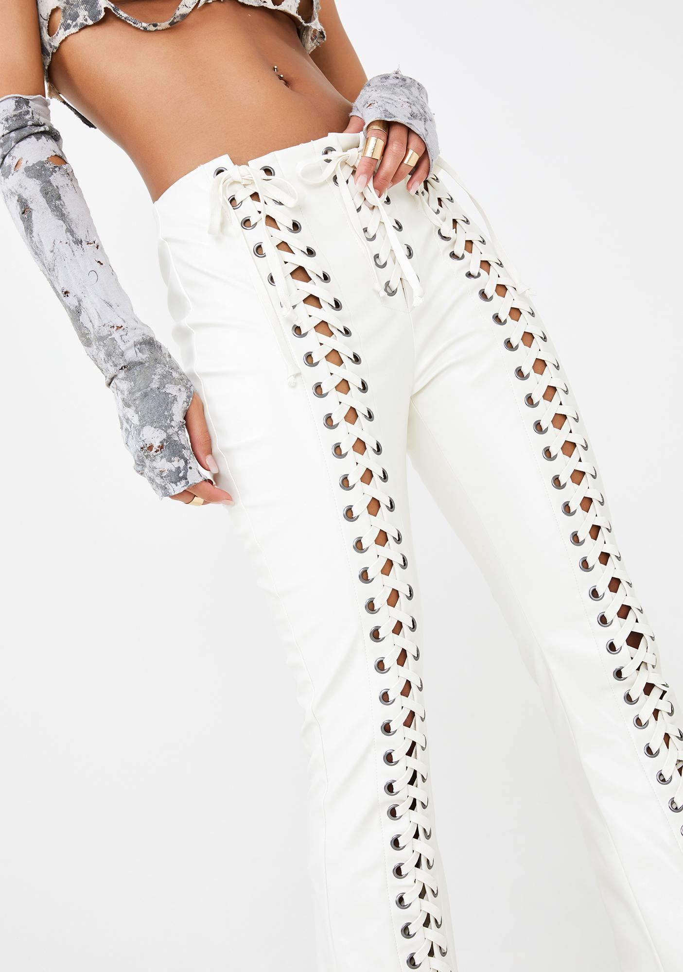 Club Exx Rude Awakening Lace-Up Pants