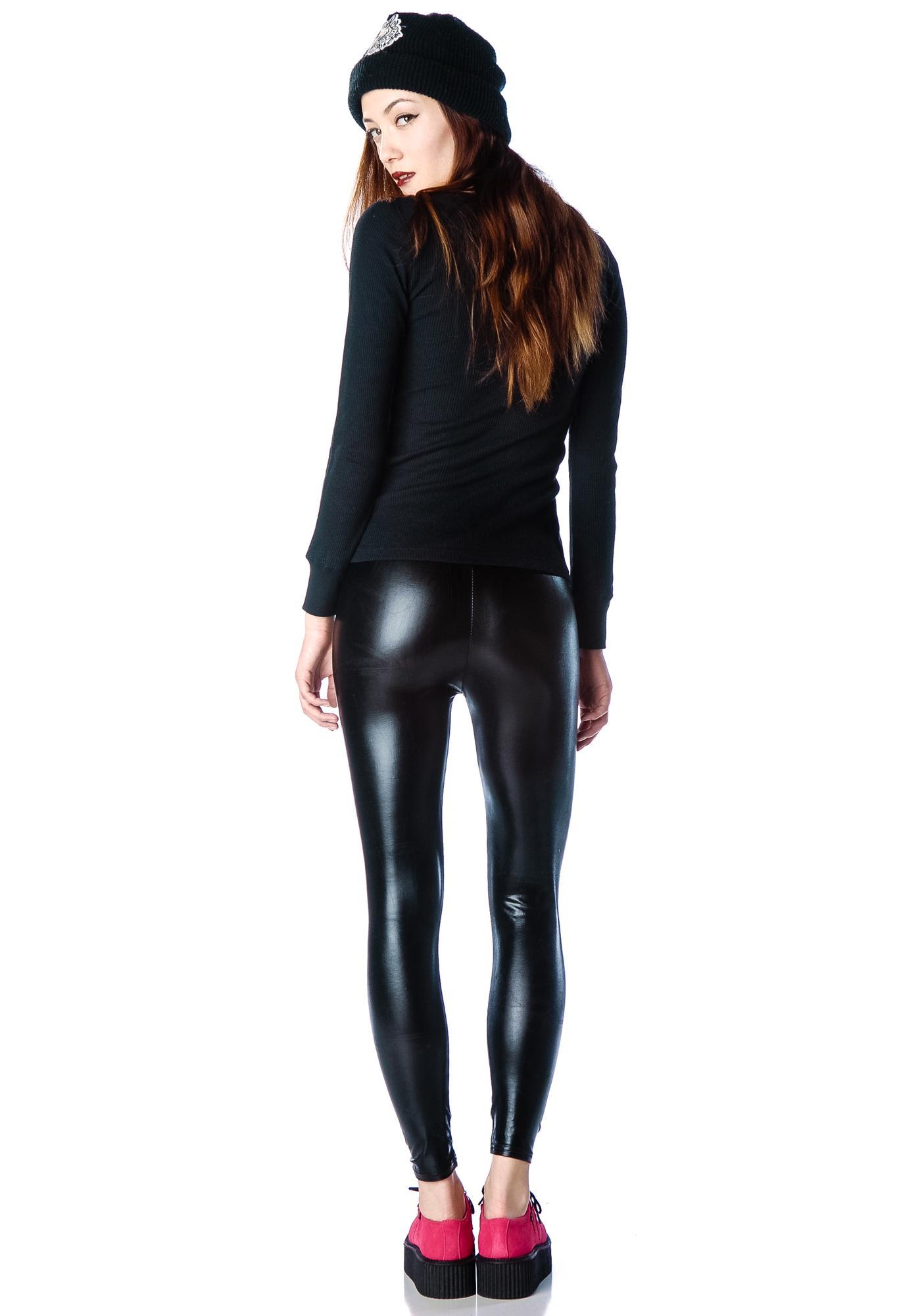 Ripper Leather Leggings