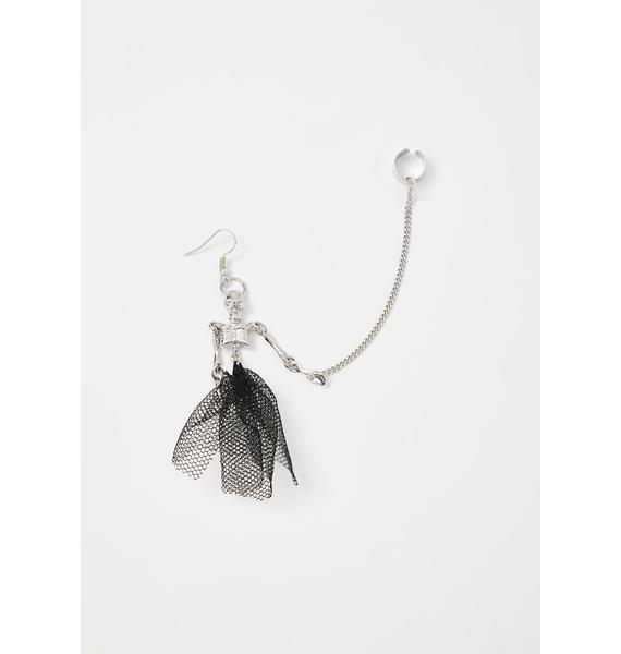 Corpse De Ballet Skeleton Ear Cuff