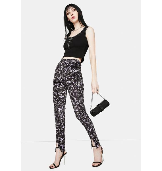 Daisy Street Brianna Floral Skinny Pants